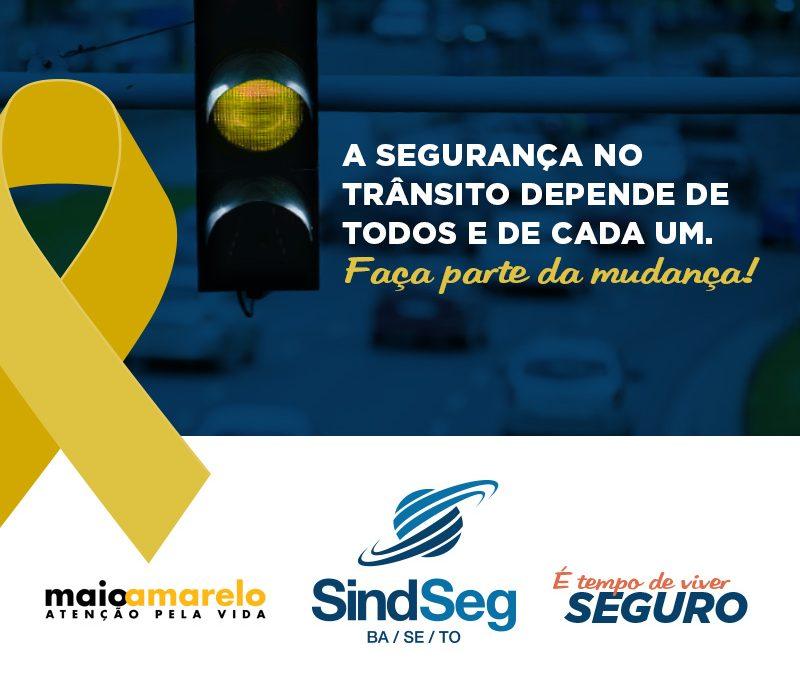 Atenção pela vida: SindSeg BA/SE/TO abraça movimento em prol da segurança no trânsito