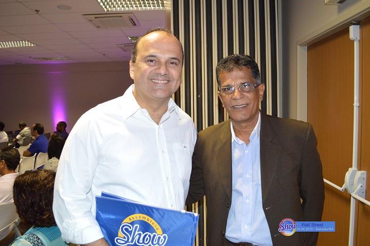 João Giuseppe (presidente) e Nelson Uzêda (executivo da Excelsior Seguros)