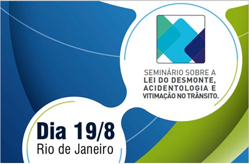 """Fenacor promove seminário """"Lei do Desmonte, Acidentologia e Vitimação no Trânsito"""""""
