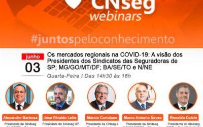 Presidente do SindSeg BA/SE/TO participa de webinar sobre os mercados regionais de seguros na COVID-19