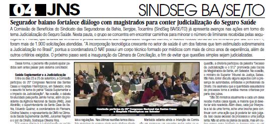 Ações da Comissão Benefícios para conter judicialização em destaque no Jornal Nacional de Seguros